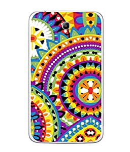 FUSON Designer Back Case Cover for Samsung Galaxy Tab 3 (8.0 Inches) T310 T311 T315 LTE (Best Rangoli Patterns Treditional Photo Wallpapers )