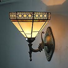 Global-8-pollici retrò europeo lampada da parete di illuminazione navata laterale balcone Caffè Ristorante creativo chic Applique Tiffany - Parete Laterale