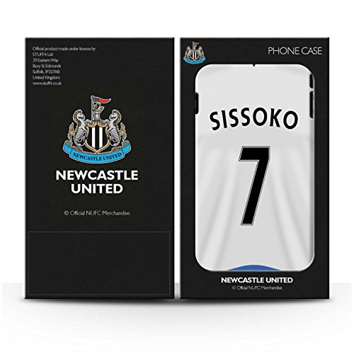 Offiziell Newcastle United FC Hülle / Matte Snap-On Case für Apple iPhone 7 / Sissoko Muster / NUFC Trikot Home 15/16 Kollektion Sissoko