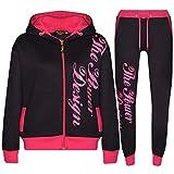 A2Z 4 Kids® Kinder Jungen Mädchen Trainingsanzug Schwarz & Rosa Designer - T.S PD 301 Black Pink.9-10