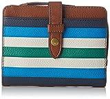 Fossil Damen Damentasche– Fiona Multifunktionale Tasche Geldbörse, Blau (Blue), 3.18x10.8x13.65 cm