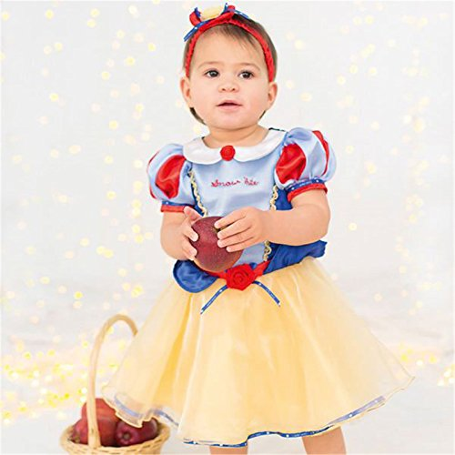 Disney-Baby-Princess-Childrens-nieve-vestido-blanco
