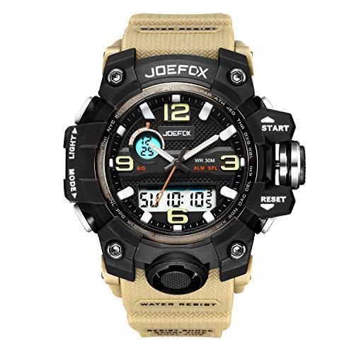 Reloj Militar para Hombre, analógico Digital Militar, Esfera Grande, 45 mm de diámetro, cronógrafo...