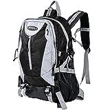 Monzana® Rucksack Damen Herren Schulrucksack Laptop Backpack Notebook Freizeitrucksack Bürorucksack Reiserucksack Wanderrucksack ✔regenfest ✔Laptopfach 15 Zoll ✔5 zusätzl. Taschen schwarz