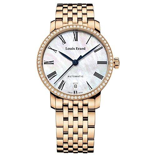 Louis Erard Excellence Reloj de mujer diamante automático 33mm 68235PS04.BMA52