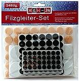 M&H-24 Filzgleiter Set selbstklebend, 248 Stück Möbelgleiter Stuhlgleiter Möbelschoner Bodenschutz Kratzschutz Rund Filz für Möbel (Mehrfarbig, 744-teilig)