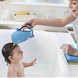 UChic 1 STÜCKE Neue Anzug Kopf Form Baby Badehauben Baby Shampoo Tasse Kinder Baden Bade Bailer Baby Dusche Löffel Kind Waschen Haar Tasse Kinder