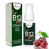 Vitamin B12 Spray Vegavero | NEU: Sprühen statt Tabletten schlucken | Kirschgeschmack | 1000 µg Methylcobalamin pro 2 Sprühstöße | Hohe Bioverfügbarkeit | Laborgeprüft | Vegan