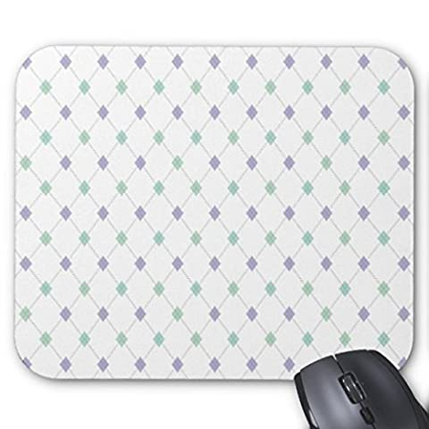 TimetoShine Mini Argyle Mint And Lavender Mouse Pad