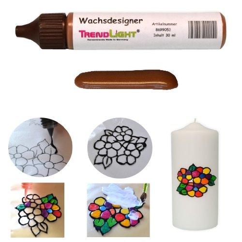 Wachsdesigner braun glänzend 30 ml inkl. ausführlicher Anleitung mit Bilder