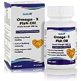 Healthvit Omega-3 Fish Oil 1000mg Double Strength 160mg EPA 120mg 60 Capsules
