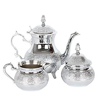 albena shop 73-127 Zahir oriental tea things teapot sugar bowl creamer Set of 3