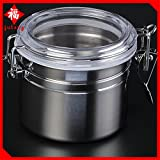 #3: Generic silver : 2017 Top Hot Sale Smoking Pipe Stainless Steel Cut Tobacco Box Sealed tank Tobacco Storage Box Cigar Free Shipping ywft106