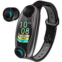 Ritapreaty 2 in 1 Smart Armbänder Wireless Bluetooth 5.0 Kopfhörer, Fitness Tracker Blutdruck Herzfrequenz Schrittzähler…