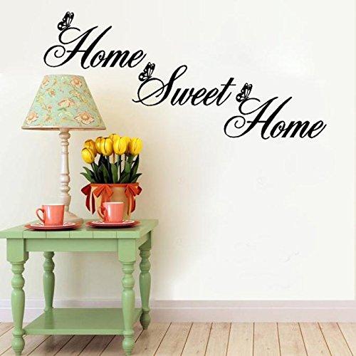 Wall sticker frasi scritte ★home sweet home★ rimovibile impermeabile adesivi murales carta da pareti decorazione murali,mambain