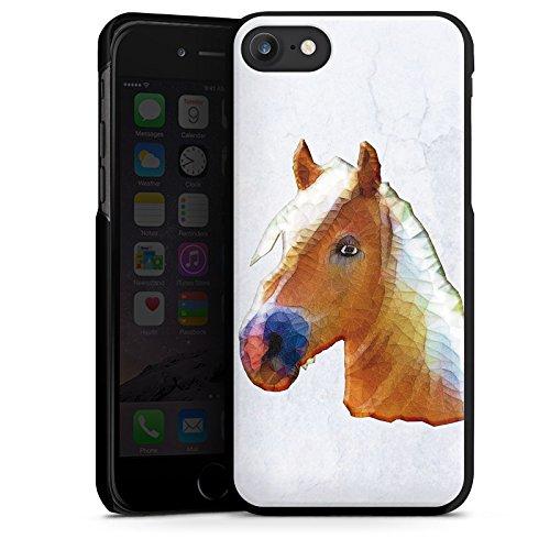Apple iPhone X Silikon Hülle Case Schutzhülle Pferd Stute Hengst Hard Case schwarz