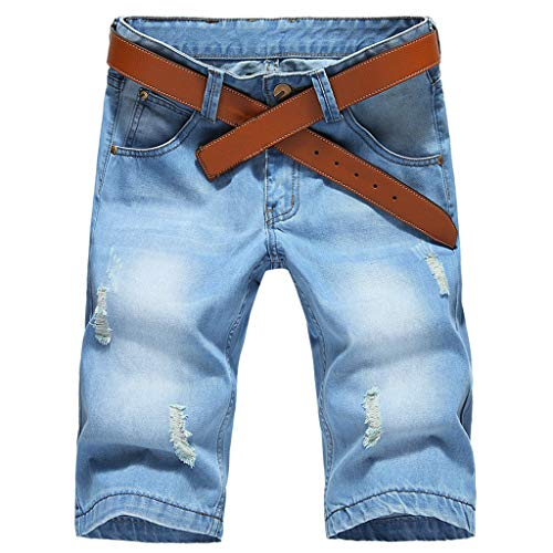 Vovotrade Uomo Denim Pantaloncini Corti Jeans Basic Casuale Moda Estate Shorts