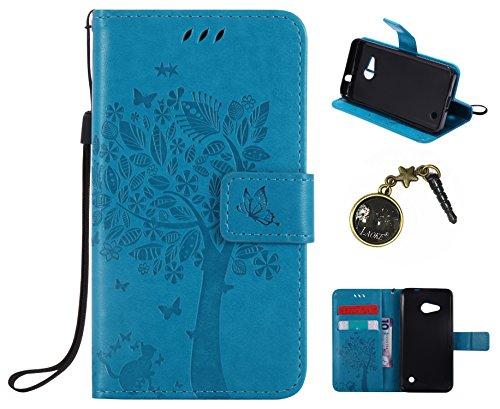 Preisvergleich Produktbild PU Lumia 550 / Nokia N550 Hülle, Klappetui Flip Cover Tasche Leder [Kartenfächer] Schutzhülle Lederbrieftasche Executive Design Microsoft Lumia 550 / Nokia N550 +Staubstecker (1TT)