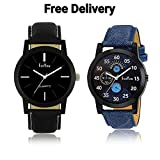#10: Foryou Analogue Balck And Blue Men's Watches