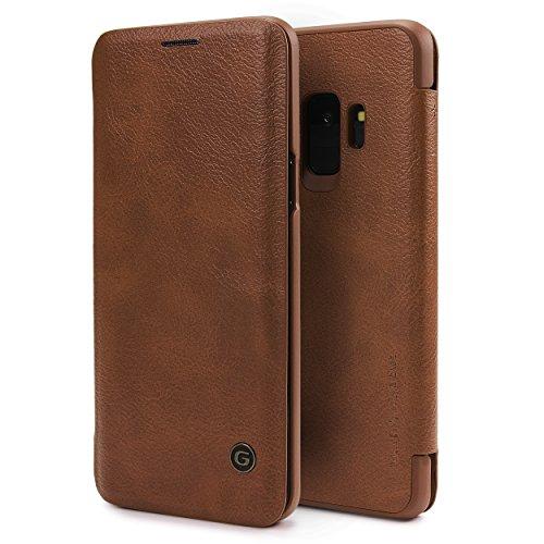 Urcover Galaxy S9 Hülle, Wallet Business Series mit [ KARTENFACH ] Bookstyle Case Cover Schutzhülle Etui Klapphülle Handyhülle für Samsung Galaxy S9 Braun (Card Klasse Wallet)