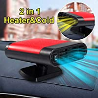 Car Heater Defroster, 60 Seconds Fast Heating Defrost Defogger Demister Vehicle Heat Cooling Fan, 12V 150W with Folding Handle, Heating Quickly, Air Purify