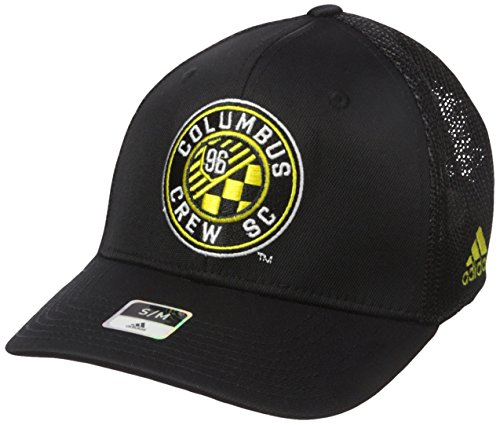 Tactel Flex-cap (adidas MLS SP17 Fan Wear Tactel Trucker Flex Gap, Herren, MLS SP17 Fan Wear Tactel Trucker Flex Cap, schwarz, Small/Medium)