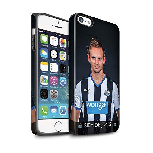 Officiel Newcastle United FC Coque / Matte Robuste Antichoc Etui pour Apple iPhone 5/5S / Pack 25pcs Design / NUFC Joueur Football 15/16 Collection De Jong