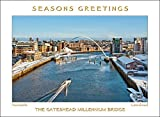 Scenic Fotos Gateshead Millennium Bridge 2Weihnachten Karte
