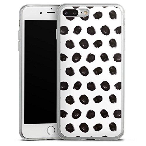 Apple iPhone 8 Slim Case Silikon Hülle Schutzhülle Punkte Malerei Muster Silikon Slim Case transparent