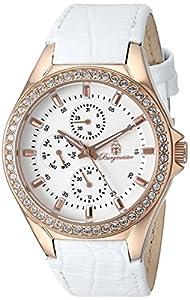 Burgmeister BM529-316 - Reloj de Cuarzo para Mujer, correa de Cuero color Blanco de Burgmeister