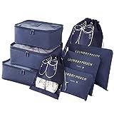 Vicloon Organizador de Equipaje,8 en 1 Set de Organizadores de Viajes,...