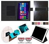 reboon Hülle für Dell Venue 10 Pro LTE Tasche Cover Case Bumper | in Schwarz Leder | Testsieger