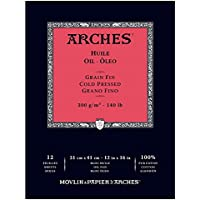 ARCHES 31 x 41 cm Cold Pressed Oil Pads (Pack of 12 Sheets)