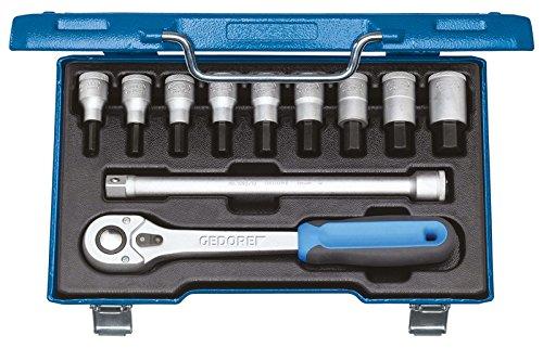 Preisvergleich Produktbild GEDORE Schraubendreher-Satz 1/2 Zoll 11-Teilig, Innen-6-kant 5-17 mm, 1 Stück, IN 19 Q