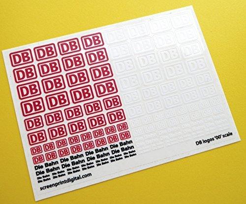 DB Würfel Bahn Deutsche Federal Railways Logo '00' Skala zu messen sticker aufkleber