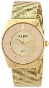 Mike Ellis New York Unisex-Armbanduhr Analog Quarz Edelstahl beschichtet M1126AGM/1