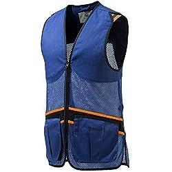 Beretta Hombre Full Malla Chaleco de Tiro, Primavera/Verano, Hombre, Color Azul, tamaño Large