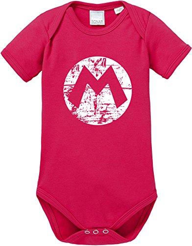 EZYshirt Mario Baby Body Shortsleeve Bio Baumwolle