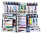 CLOOM esche da pesca kit Esche Artificiali da Pesca Rigide Morbide e di Metallo con Scatola per Conservare, Esche da Pesca delle Esche Bass Ciprinidi Lure Kits, 1PC