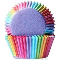 heall Moldes Papel Copa de Horneado,100 PCS Cupcake Cases para Magdalenas,Muffins,Color Pastel para Cumpleaños, Bodas, Aniversarios y Otras Fuentes de Fiesta Cápsulas para Pastel