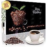 Adventskalender mit hochwertigem Kaffee aus aller Welt. (ROT) Gemahlener Kaffee. - Ideal auch als Geschenk in der Vorweihnachtszeit.