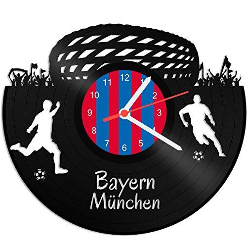 GRAVURZEILE Schallplattenuhr Bayern München - 100{435baec29e84c1806ca49ab93f904b1c5a3f34cbc6fe2e2e8b2158fc43f72d5e} Vereinsliebe - Upcycling Design Wanduhr aus Vinyl Made in Germany