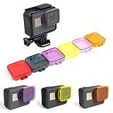 [6Farben] PANNOVO Unterwasser Objektiv Filter Kit für GoPro Hero 5schwarz Kamera