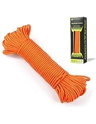 Campsnail Paracorde 550 Bobine de corde parachute de qualité commerciale 100% nylon 550 typeIII 7brins