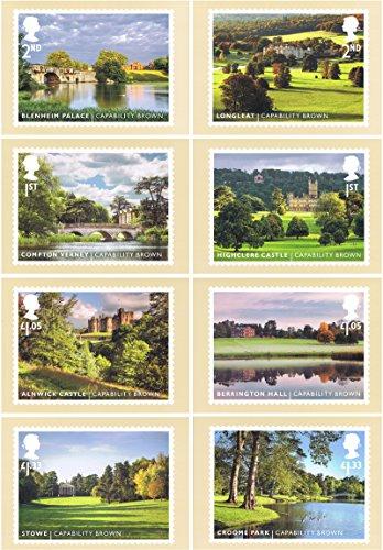 2016-landschaft-garten-fahig-braun-karten-mit-briefmarkenmotiven-nr-419-mint-set-von-8-royal-mail-po
