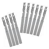 EU_HOZLY 3.175X17mm Single Flöte Spiral Carbide CNC Router Bits Fräser Cutter Pack von 10