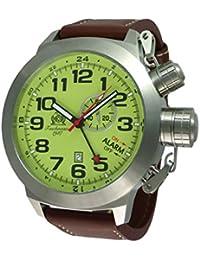 XXL 53mm tauchme ister Alarma GMT Reloj con Isa de de T0306