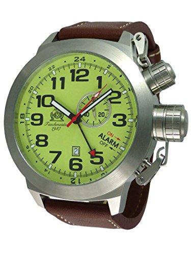 XXL 53mm Tauchmeister Alarm GMT Uhr mit ISA-Werk T0306