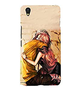 Fuson Premium Back Case Cover I love you With blue Background Degined For One Plus X::One + X