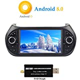 XISEDO Android 8.0 Autoradio 1 Din In-dash 7 Zoll Car Radio 8-Core RAM 4G ROM 32G Autonavigation Car Radio für Fiat Qubo/ Fiat Fiorino/ Peugeot Bipper/ Citroen Nemo 2008-2016 Unterstützt Lenkradkontrolle, RDS, WiFi, Bluetooth (mit DAB Dongle)
